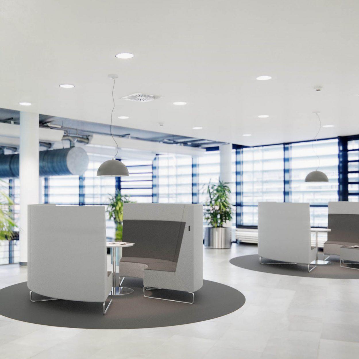 Für die ABB Automation GmbH gestaltete IRED funktionale Innenräume für Kunden und Mitarbeiter.