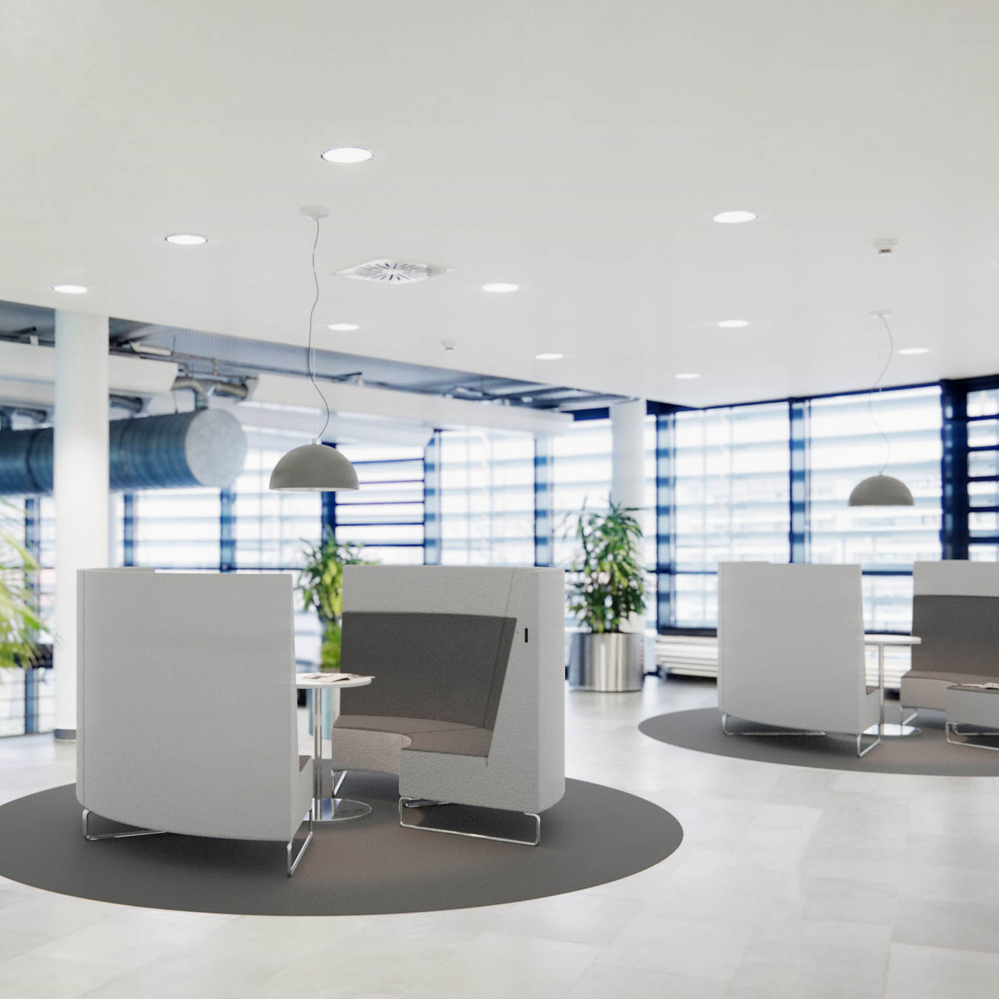 For ABB Automation GmbH IRED designed functional interiors for customers and employees.